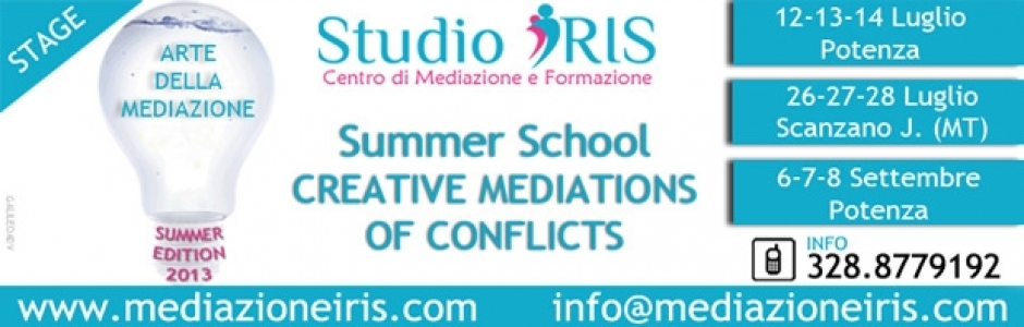 Summer School Creative Mediation of Conflicts