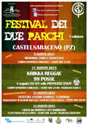 Festival dei due Parchi 2015 a Castelsaraceno