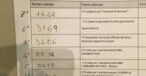 Biglietti vincenti della lotteria del Carnevale di Satriano 2016